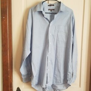 Nordstrom blue long sleeve button up 17 and 35